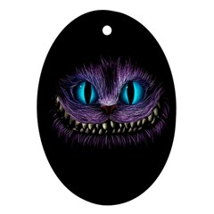 Cheshire Cat Animation Oval Ornament (two Sides) by Onesevenart
