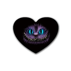 Cheshire Cat Animation Heart Coaster (4 Pack)  by Onesevenart