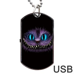 Cheshire Cat Animation Dog Tag Usb Flash (two Sides)  by Onesevenart