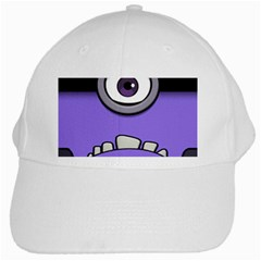 Evil Purple White Cap by Onesevenart