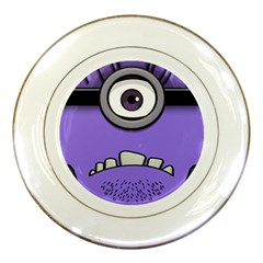 Evil Purple Porcelain Plates by Onesevenart