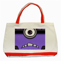 Evil Purple Classic Tote Bag (red) by Onesevenart