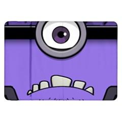 Evil Purple Samsung Galaxy Tab 8 9  P7300 Flip Case by Onesevenart