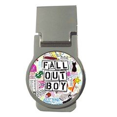 Fall Out Boy Lyric Art Money Clips (round)  by Onesevenart