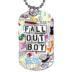 Fall Out Boy Lyric Art Dog Tag (two Sides) by Onesevenart