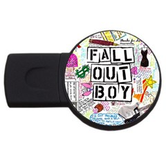 Fall Out Boy Lyric Art Usb Flash Drive Round (2 Gb)  by Onesevenart
