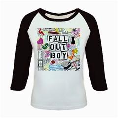 Fall Out Boy Lyric Art Kids Baseball Jerseys by Onesevenart
