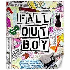 Fall Out Boy Lyric Art Canvas 20  X 24   by Onesevenart