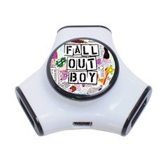 Fall Out Boy Lyric Art 3 Port Usb Hub by Onesevenart