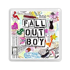 Fall Out Boy Lyric Art Memory Card Reader (square)  by Onesevenart