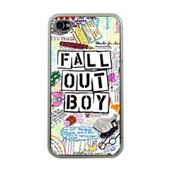 Fall Out Boy Lyric Art Apple Iphone 4 Case (clear) by Onesevenart