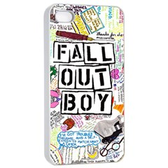 Fall Out Boy Lyric Art Apple Iphone 4/4s Seamless Case (white) by Onesevenart
