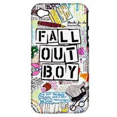 Fall Out Boy Lyric Art Apple Iphone 4/4s Hardshell Case (pc+silicone) by Onesevenart