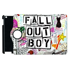 Fall Out Boy Lyric Art Apple Ipad 3/4 Flip 360 Case by Onesevenart