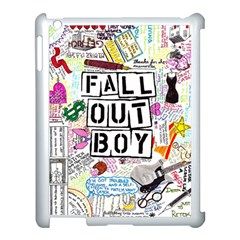 Fall Out Boy Lyric Art Apple Ipad 3/4 Case (white) by Onesevenart