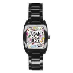 Fall Out Boy Lyric Art Stainless Steel Barrel Watch by Onesevenart