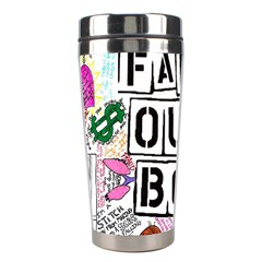 Fall Out Boy Lyric Art Stainless Steel Travel Tumblers by Onesevenart