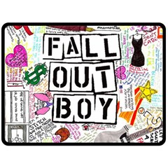Fall Out Boy Lyric Art Double Sided Fleece Blanket (large)  by Onesevenart