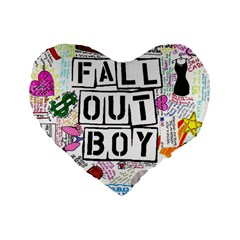 Fall Out Boy Lyric Art Standard 16  Premium Flano Heart Shape Cushions by Onesevenart