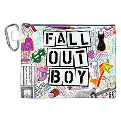 Fall Out Boy Lyric Art Canvas Cosmetic Bag (xxl) by Onesevenart