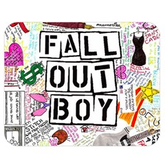 Fall Out Boy Lyric Art Double Sided Flano Blanket (medium)  by Onesevenart