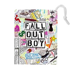 Fall Out Boy Lyric Art Drawstring Pouches (extra Large) by Onesevenart