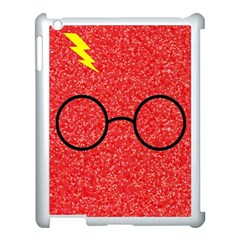 Glasses And Lightning Glitter Apple Ipad 3/4 Case (white) by Onesevenart