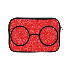 Glasses And Lightning Glitter Apple Ipad Mini Zipper Cases by Onesevenart