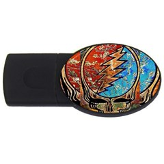 Grateful Dead Rock Band Usb Flash Drive Oval (4 Gb)  by Onesevenart