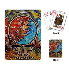 Grateful Dead Rock Band Playing Card by Onesevenart