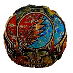 Grateful Dead Rock Band Large 18  Premium Flano Round Cushions by Onesevenart