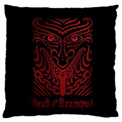 Gruss Vom Krampus Large Cushion Case (two Sides) by Onesevenart