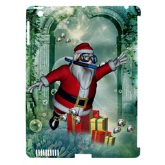 Funny Santa Claus In The Underwater World Apple Ipad 3/4 Hardshell Case (compatible With Smart Cover) by FantasyWorld7