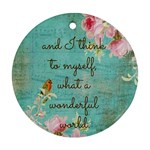 WonderfulWorld - Ornament (Round)