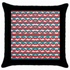 Geometric Waves Throw Pillow Case (black) by dflcprints