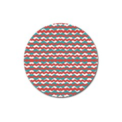 Geometric Waves Magnet 3  (round) by dflcprints