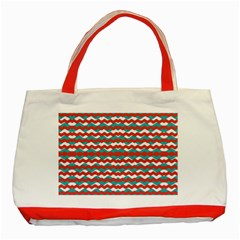 Geometric Waves Classic Tote Bag (red) by dflcprints