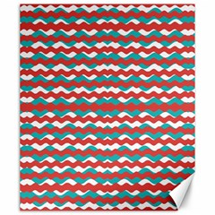 Geometric Waves Canvas 20  X 24   by dflcprints