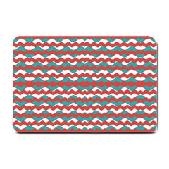 Geometric Waves Small Doormat  by dflcprints