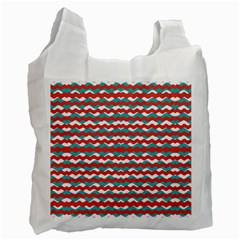 Geometric Waves Recycle Bag (one Side) by dflcprints