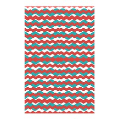 Geometric Waves Shower Curtain 48  X 72  (small)  by dflcprints