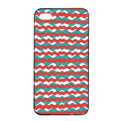 Geometric Waves Apple Iphone 4/4s Seamless Case (black) by dflcprints