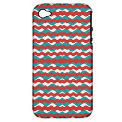 Geometric Waves Apple Iphone 4/4s Hardshell Case (pc+silicone) by dflcprints