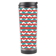Geometric Waves Travel Tumbler by dflcprints
