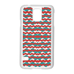 Geometric Waves Samsung Galaxy S5 Case (white) by dflcprints