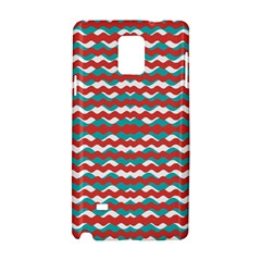 Geometric Waves Samsung Galaxy Note 4 Hardshell Case by dflcprints