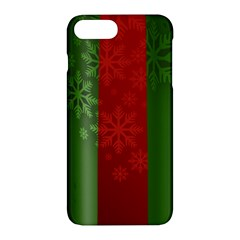 Background Christmas Curtain Red Apple iPhone 7 Plus Hardshell Case by Zeze