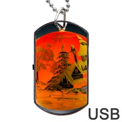 Christmas Bauble Dog Tag USB Flash (One Side) by Zeze