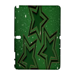 Christmas Holidays Greetings Samsung Galaxy Note 10.1 (P600) Hardshell Case by Zeze