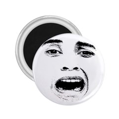 Scared Woman Expression 2 25  Magnets by dflcprints